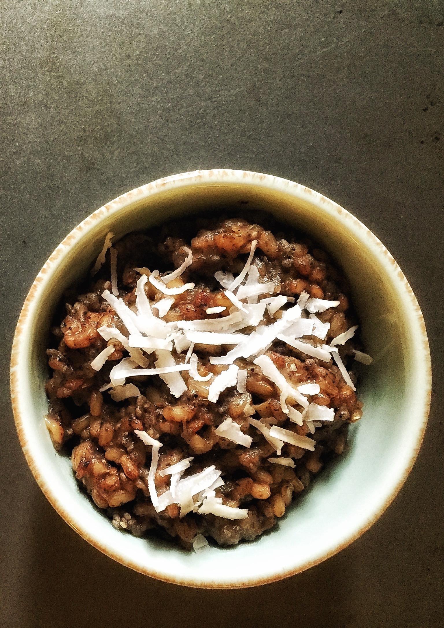 Vegan Banana Chai Brown Rice Pudding