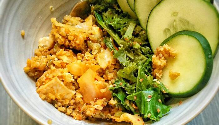 30-Minute Vegan Asian Fusion Probiotic Bowl