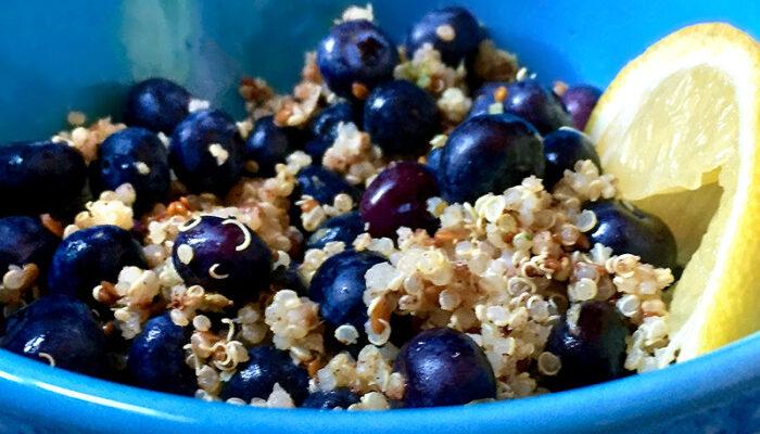 Zesty Blueberry Citrus Quinoa Pilaf