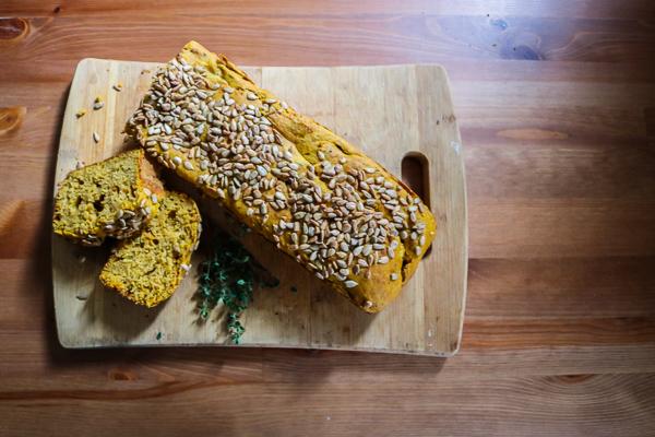Savory Vegan Pumpkin Bread with Discard Sourdough Starter