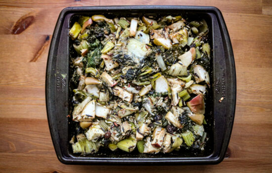Wild Rice Stuffing with Apple, Kale & Leek