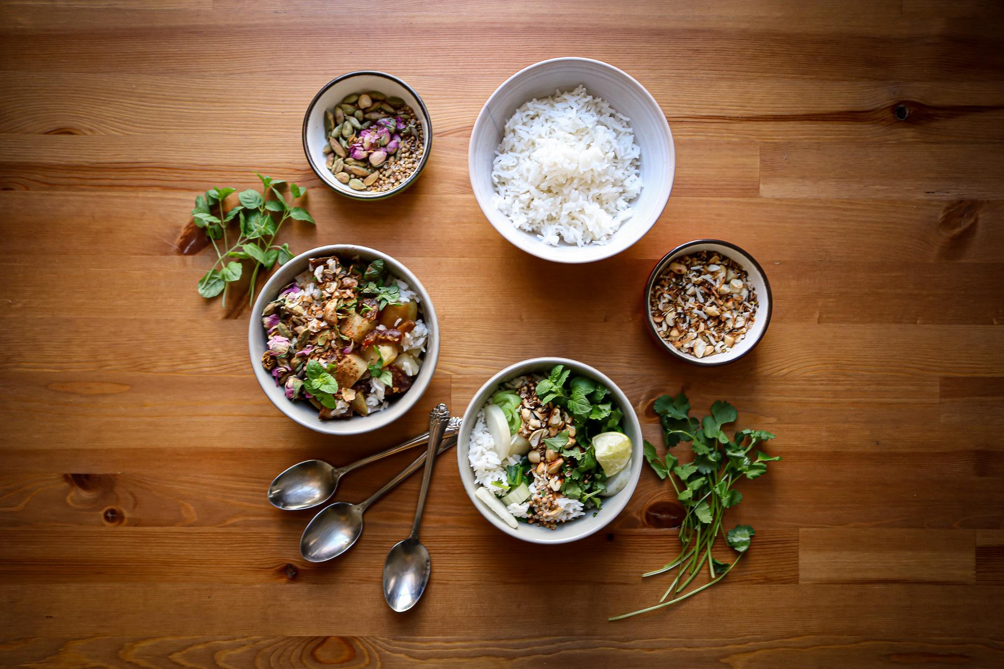 Simple Summer Coconut Rice, Sweet & Savory