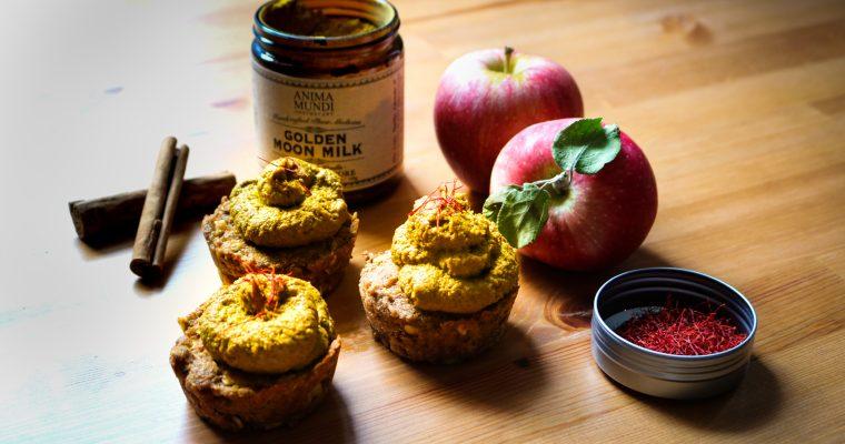 Golden Moon Milk Carrot Apple Cupcakes